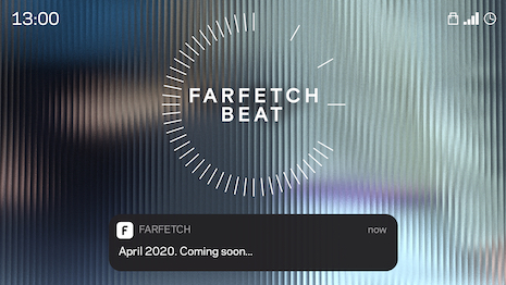 Farfetch Beat will be a curated collection of exclusive fashion merchandise dropping simultaneously every Wednesday to key markets worldwide. Image courtesy of Farfetch