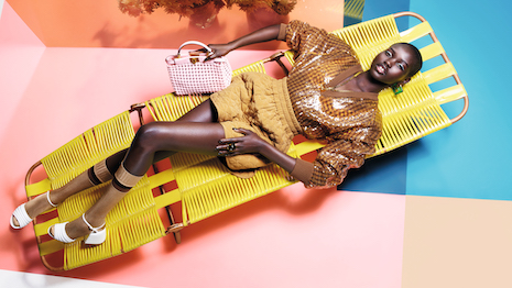 Model Adut Akech in the Fendi spring/summer 2020 collection ad campaign shot by British photographer Nick Knight. Image courtesy: Fendi
