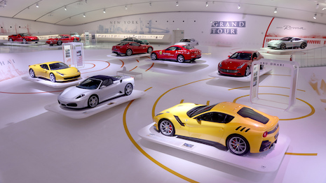 "The ""Ferrari Grand Tour: A journey through beauty and passion"" exhibition at the Enzo Ferrari Museum in Modena, Italy. Image courtesy of Ferrari"