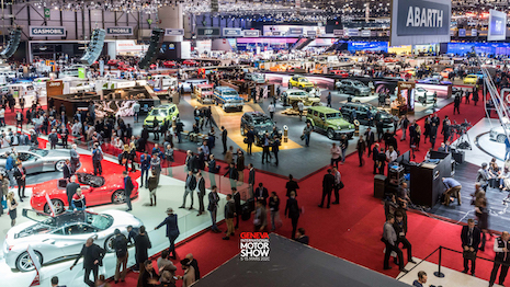 Crowds at the Geneva International Motor Show last year. This year's show was cancelled at the last minute because of the coronavirus outbreak in Switzerland, causing the country's government to ban events of more than 1,000 people Feb. 28 through March 15. Image credit: Geneva International Motor Show