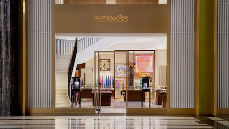 Hermès this week opened its new store in Kuwait at The Avenues, the second-largest shopping center in the Middle East. Image credit: Hermès