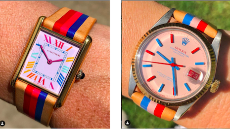 La Californienne-altered Rolex and Cartier watches