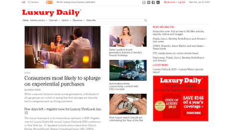 Luxury Daily is read by senior executives and decision-makers from the world's leading luxury brands and retailers