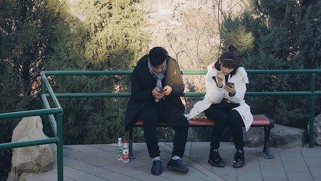 Consumers on WeChat. Image credit: PARKLU via Luxury Society