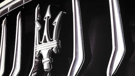 Maserati plans to go electric for a range of vehicles. Image of Maserati trident courtesy of Maserati