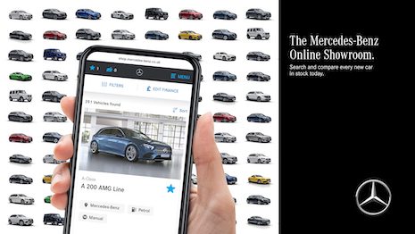 German automaker Mercedes-Benz is trying to simply bookings for new and used cars with a new online showroom for U.K. buyers that integrates dealer inventory for easy search and down payment. Image courtesy of Mercedes-Benz Cars U.K.