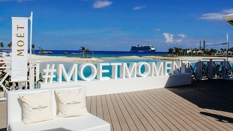 The Moët & Chandon Ice Bar on Great Stirrup Cay in the Bahamas. Image courtesy of Moët & Chandon