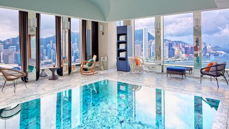 Broad vista: Rosewood Residences Hong Kong, pool level. Image courtesy of Rosewood Hotels & Resorts