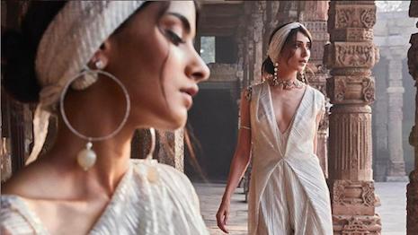 Indian designer Tarun Tahiliani's spring 2020 Drape Series. Image credit: Tarun Tahiliani