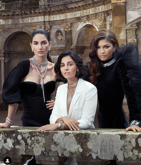 "Lily Aldridge, Naomi Scott and Zendya star in Bulgari's ""Mai Troppo"" campaign. Image credit: LVMH"