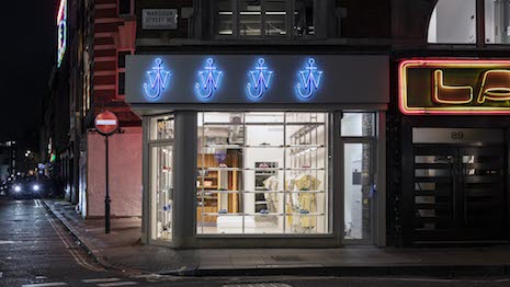 The JW Anderson store in London's Soho district is the 12-year-old brand's first standalone retail location worldwide. Image courtesy and copyright of Johan Dehlin