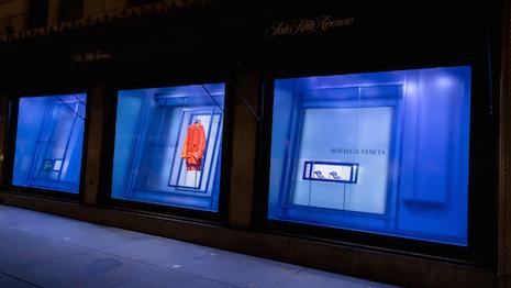Bottega Veneta has taken over six window displays at Saks Fifth Avenue's flagship department store in midtown New York. Image courtesy of Saks