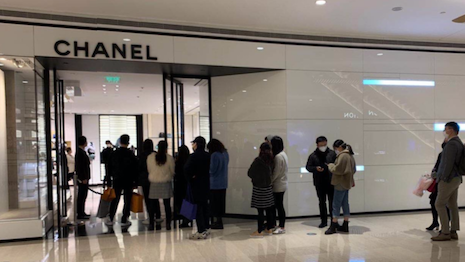 Shopper return to Chanel Shanghai on March 8th. Image courtesy of Agility Research and Strategy