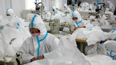 Garment factories slowly resume production in China amidst the coronavirus outbreak. Image credit: Sheng Lu Fashion