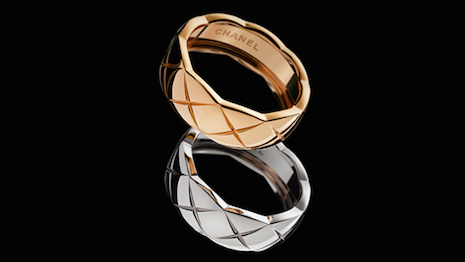 Rings with quilted pattern from the Chanel's Coco Crush line of fine jewelry. Image credit: Chanel