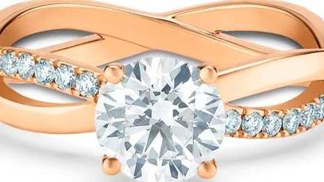 De Beers diamond engagement ring. Image credit: De Beers