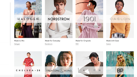 Nordstrom will apply its human rights goals first to its own Nordstrom Made stable of private-label brands. Image credit: Nordstrom