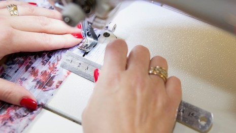 Britain's Plus Samples specializes in the production of high-end garments in smaller volumes, and is exhibiting in the UKFT Manufacturing Zone at Textile Forum March 11-12. Image credit: Plus Samples