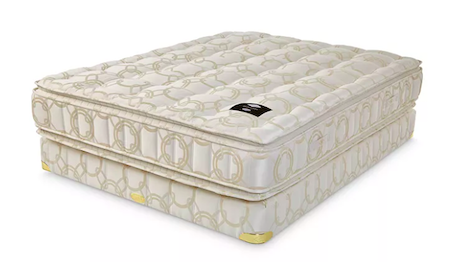 The Frette x Shifman Benessere Pillow Top Collection Split Queen Mattress and Box Spring Set, exclusive to Bloomingdale's, price $17,160. Image credit: Bloomingdale's