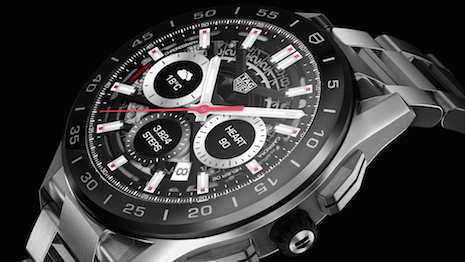 The third edition of the Tag Heuer Connected watch, first launched in 2015. Image courtesy of Tag Heuer