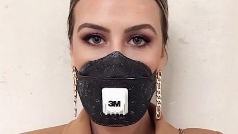Fashion designer Tuğçe Görgülü wears a mask at London Fashion Week. Image credit: Tuğçe Görgülü Instagram