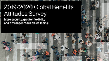 Willis Towers Watson's 2019/2020 Global Benefits Attitudes Survey. Image courtesy of Willis Towers Watson