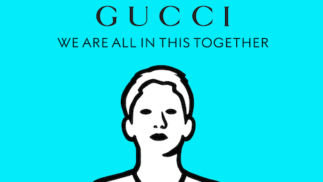Gucci's We all in this together campaign for COVID-19 relief. Image courtesy of Gucci