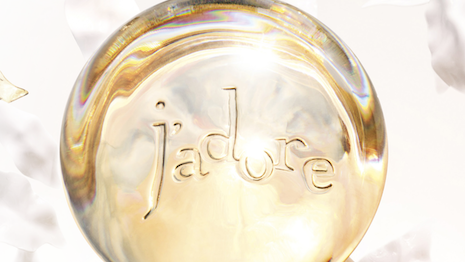 Dior Parfums' latest J'Adore campaign. Image courtesy of Christian Dior