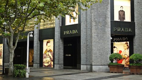 A Prada store in China. Image credit: Shutterstock