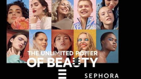 """Sephora's new """"The Unlimited Power of Beauty"""" campaign. Image credit: LVMH"""