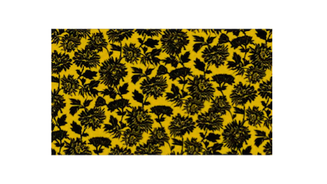 Sophie Theallet's yellow-and-black floral print design for a fabric that was incorporated into her ST Collection and registered with the United States Copyright Office. Image credit: Sophie Theallet