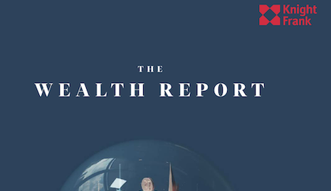 Knight Frank's 2020 wealth report. Image courtesy of Knight Frank