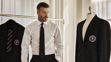 Brand ambassador David Beckham in Ralph Lauren Purple Label. Image credit: Ralph Lauren Corp.