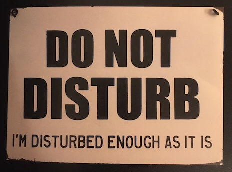 Do Not Disturb sign from Muay Thai instructor Pat Le Hoang