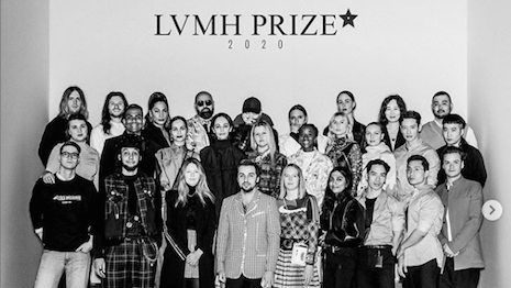 Finalists of the 7th edition of the LVMH Prize for Young Fashion Designers. The top prize will not be handed out in 2020 because of the COVID-19 coronavirus lockdown in Paris where the final judging round was supposed to be held June 5. Instead, the $329,000 prize will split equally among the eight finalists. Image credit: LVMH Prize for Young Fashion Designers