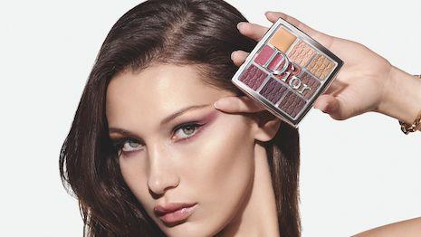 Bella Hadid stars in Dior's latest Backstage cosmetics campaign. Image courtesy of Dior