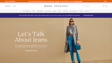 Moda Operandi, one of the leading online retail platforms, is known for its trunk shows and nurturing emerging talent. Image credit: Moda Operandi