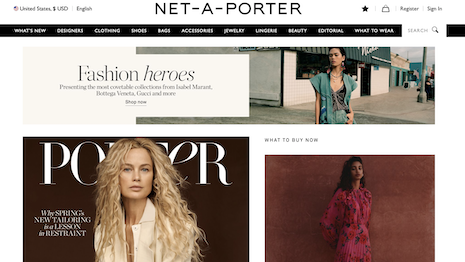 Net-A-Porter offers luxury brands an alternative option to department stores to showcase new products. Image credit: Net-A-Porter