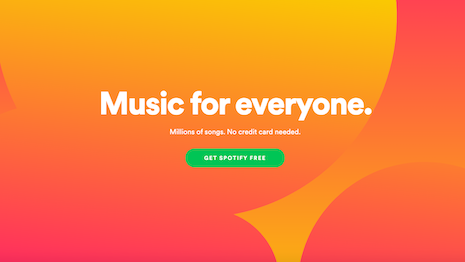 Spotify has revolutionized music consumption with ad-supported and ad-free livestreaming with a monthly subscription. Image credit: Spotify