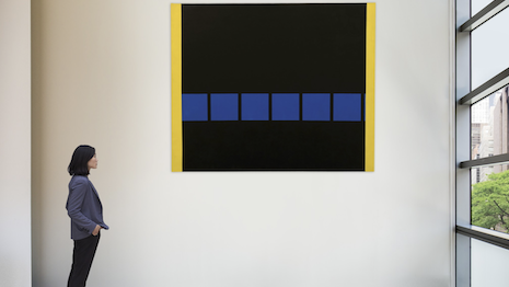 The Blacks by Mohamed Melehi sold for almost $500k, 7x its estimate. Image courtesy of Sotheby's