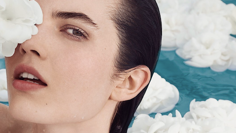 Chanel's Hydra Beauty campaign plays up the hydrating elements of the product. Image credit: Chanel