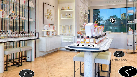The Dior Virtual Store. Image credit: Dior