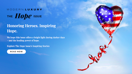 Readers can access the digital version of Modern Luxury's Hope Issue in tribute to those at the forefront of the COVID-19 battle. Image credit: Modern Luxury