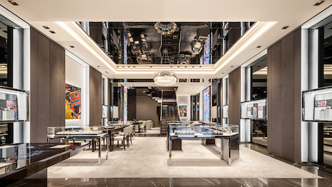 Hublot's newly opened flagship boutique in Tokyo's Ginza district. Image courtesy of Hublot