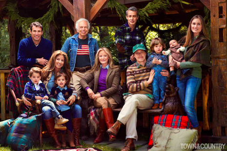 Fashion designer Ralph Lauren and his family personify the lifestyle that his company promotes. Image credit: Town & Country