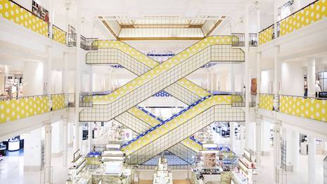 Le Bon Marché is saturated in color as the LVMH-owned department store tries to add pep to the shopping experience even as the COVID-19 coronavirus threat is ever-present worldwide. Image credit: LVMH