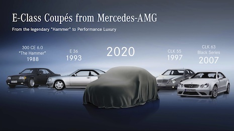The new Mercedes-Benz E-Class Coupé and the new E-Class Cabriolet will be revealed digitally May 27 to the media through the Meet Mercedes Digital platform. Image credit: Mercedes-Benz