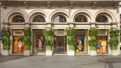 Palazzo Fendi in Rome special windows. Image courtesy of Fendi