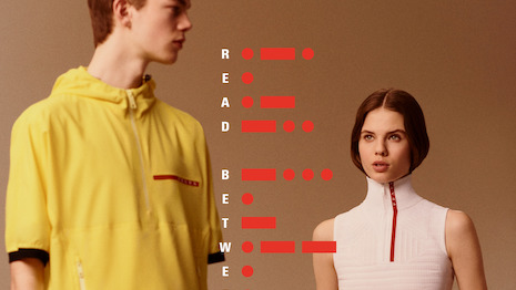 Prada's technologically groundbreaking lightweight fabrics give consideration to interaction between garment and body, between textile and skin, protecting from the elements and perspiration. Image credit: Prada