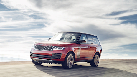 Range Rover SV Autobiography is at the top end of the Jaguar Land Rover's vehicle offerings. Image courtesy of Jaguar Land Rover